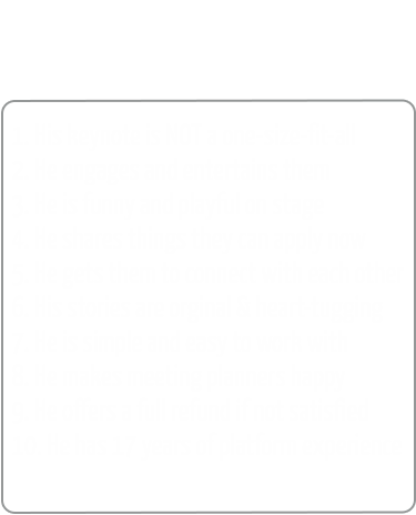 Top 10 reasons to hire rene